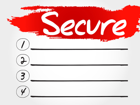 malicious software: SECURE blank list, business concept