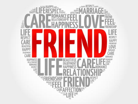 team mate: Friend concept heart word cloud