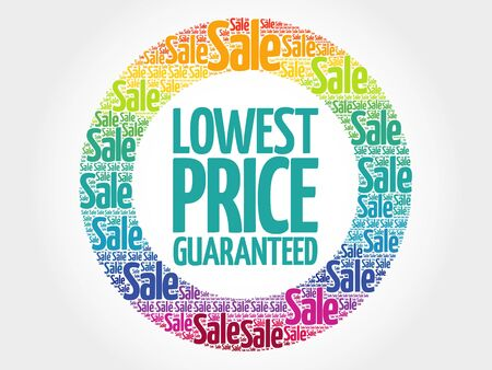 lowest: Lowest Price Guaranteed stamp words cloud, business concept background