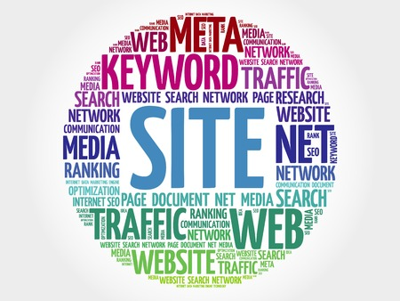 site: SITE word cloud, business concept