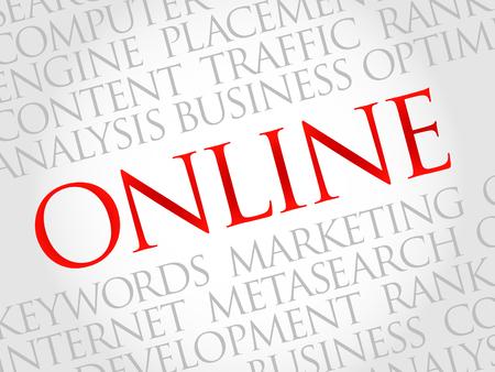 highspeed: ONLINE word cloud, business concept