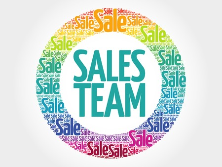 sales team: Sales Team stamp words cloud, business concept background Illustration