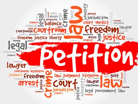 Petition word cloud concept Ilustrace