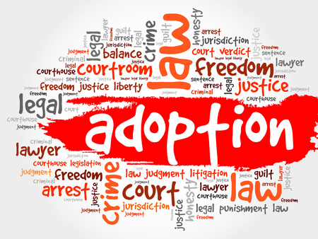 adoption: Adoption word cloud concept Illustration