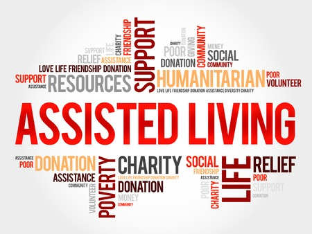assisted: Assisted Living word cloud concept