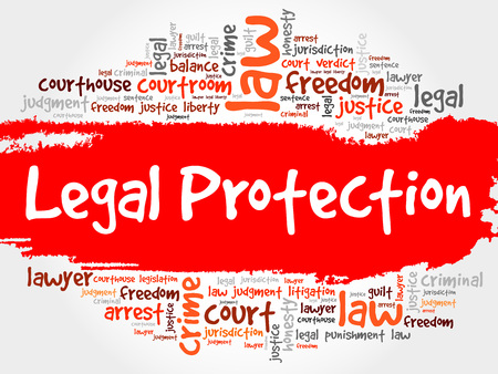 representations: Legal Protection word cloud concept