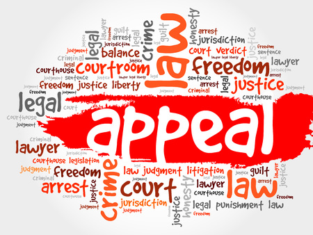 to sue: Appeal word cloud concept Illustration