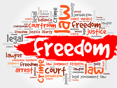 safeness: Freedom word cloud concept Illustration
