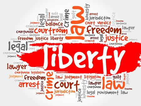 legitimate: Liberty word cloud concept