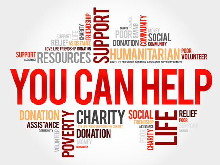 altruism: You can help word cloud concept Illustration