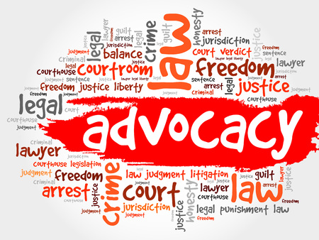advocacy: Advocacy word cloud concept