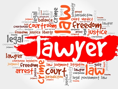 licensed: Lawyer word cloud concept