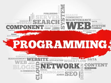 Programming word cloud, business concept