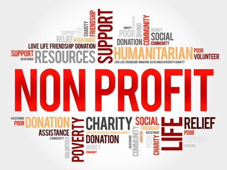 corporate responsibility: Non Profit word cloud concept
