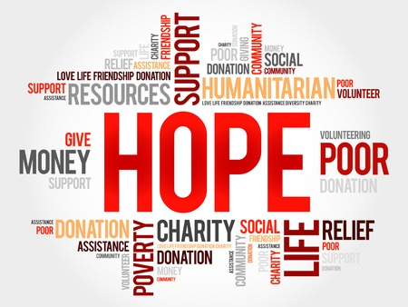 word: Hope word cloud concept