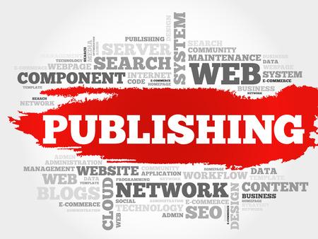 backlink: Publishing word cloud, business concept