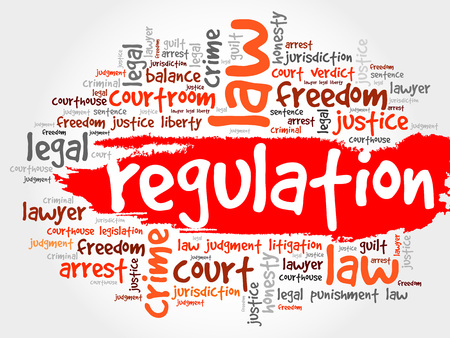 constraints: Regulation word cloud concept
