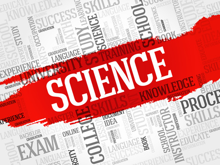 genomics: SCIENCE word cloud, education concept Illustration