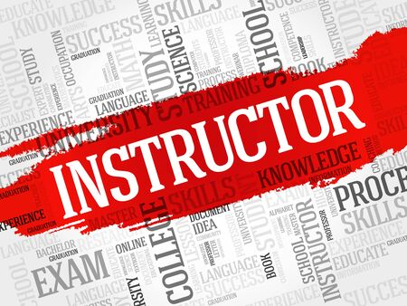 education concept: INSTRUCTOR word cloud, education concept