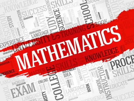 pedagogy: Mathematics word cloud, education concept