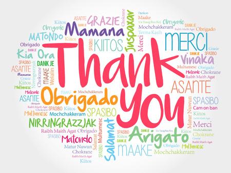 Dziękuję Word chmura, wszystkie języki