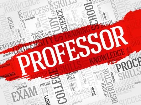 education concept: Professor word cloud, education concept