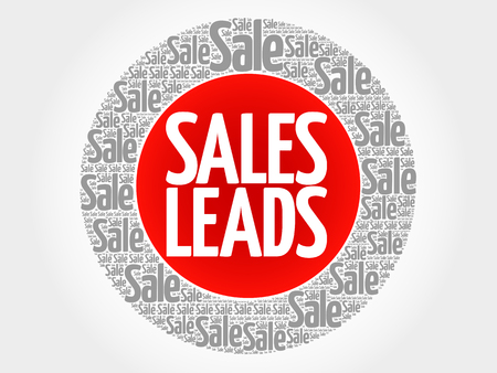 communicative: Sales Leads words cloud, business concept background Illustration