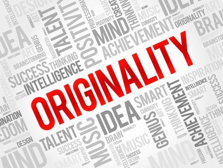 originality: Originality word cloud, business concept