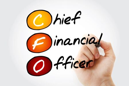 cfo: Hand writing CFO - Chief Financial Officer with marker, acronym business concept