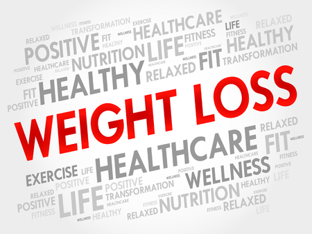 appearance: WEIGHT LOSS word cloud, fitness, sport, health concept