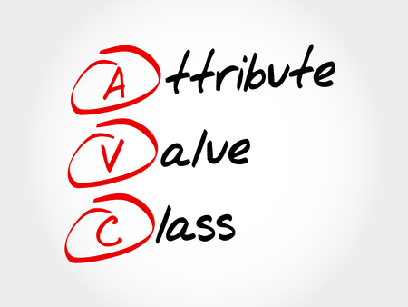 attribute: AVC - Attribute Value Class, acronym business concept