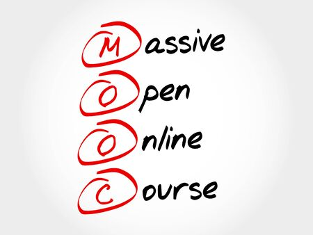 complete solution: MOOC - Massive Open Online Course, acronym business concept Illustration