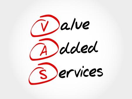 VAS - Value Added Services, acronym business concept