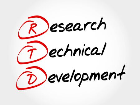 governmental: RTD - Research Technical Development, acronym business concept