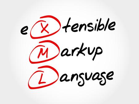 xml: XML - eXtensible Markup Language, acronym concept