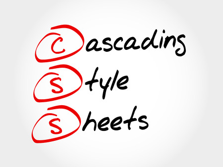 formatting: CSS - Cascading Style Sheets, acronym concept Illustration