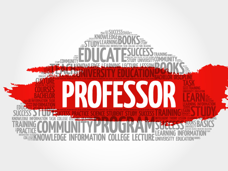 apprenticeship: Professor word cloud, education concept