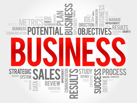 business: Business word cloud, business concept Illustration