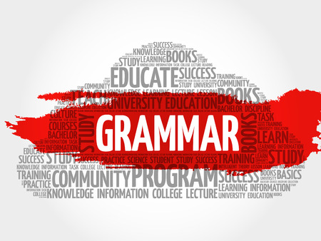 grammar: Grammar word cloud, education concept