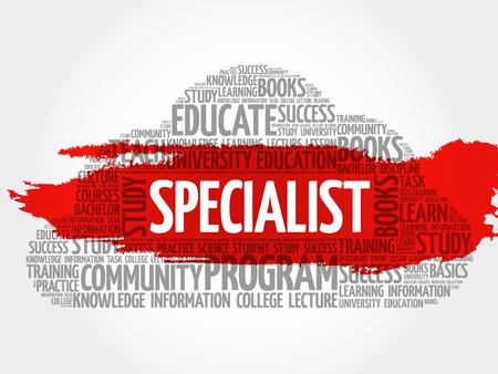 education concept: SPECIALIST word cloud, education business concept