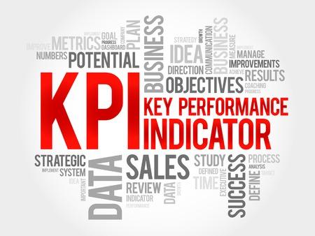 defined: KPI - Key Performance Indicator word cloud, business concept Illustration