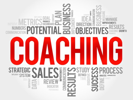 mentoring: Coaching word cloud, business concept