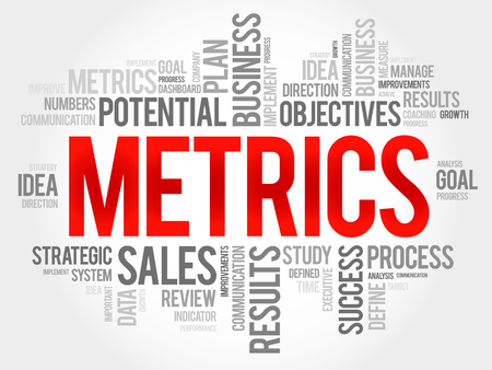 metrics: Metrics word cloud, business concept