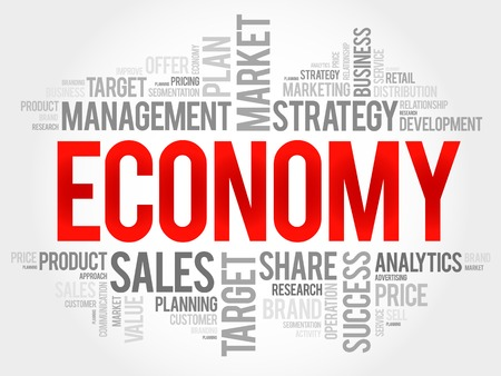 word collage: ECONOMY word cloud, business concept