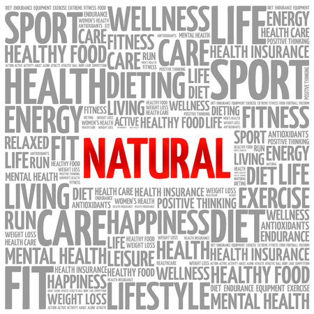 vitamine: NATURAL word cloud background, health concept