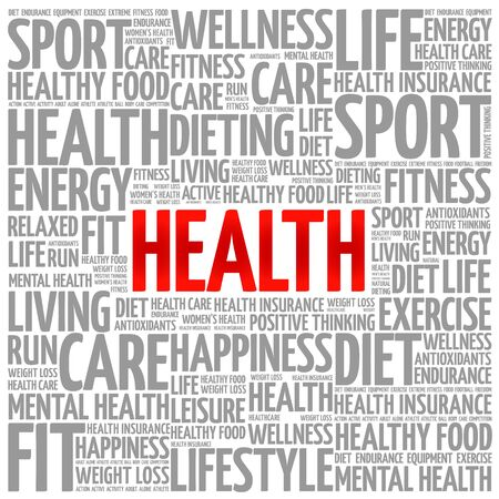 hospital expenses: Health word cloud background, health concept