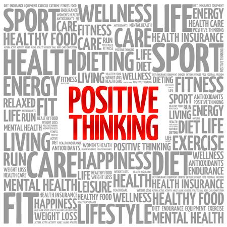 Positivo il pensiero, parola, nuvola sfondo, il concetto di salute