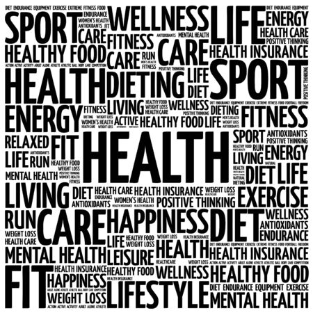care providers: Health word cloud background, health concept