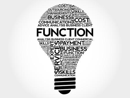 charismatic: FUNCTION bulb word cloud, business concept Illustration