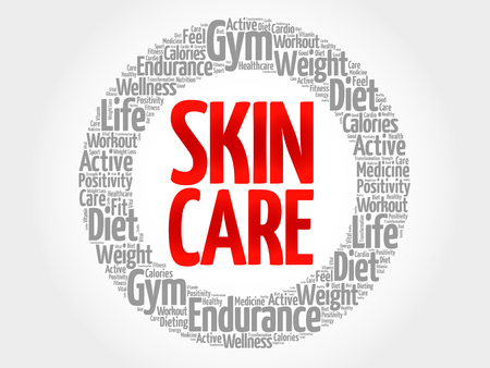 spa collage: Skin care word cloud, health concept